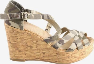 YOUNG SPIRIT High Heel Sandaletten in 38 in braun / grün / wollweiß, Produktansicht
