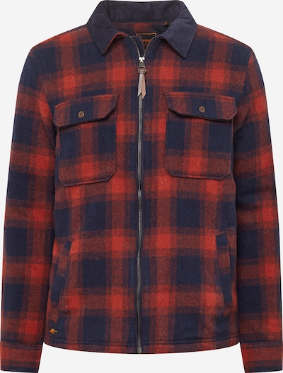 Superdry Tussenjas in de kleur Donkerblauw / Rood, Productweergave