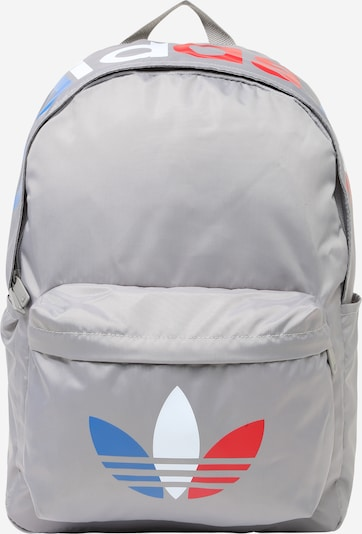 ADIDAS ORIGINALS Backpack in Blue / Light grey / Red / White, Item view