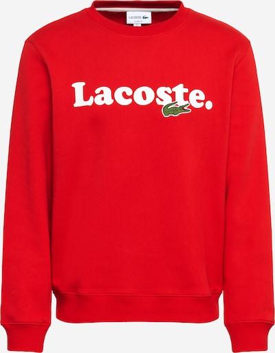 LACOSTE Sweatshirt in rot / weiß, Produktansicht