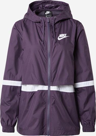 Nike Sportswear Trainingsjacke in dunkellila / weiß, Produktansicht