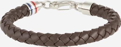 TOMMY HILFIGER Armband in kastanienbraun / silber, Produktansicht