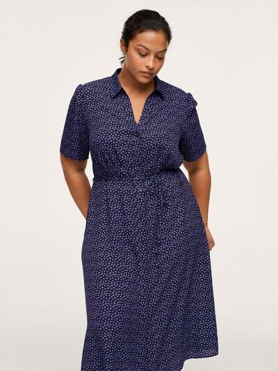 Rochie tip bluză 'LAURA' MANGO pe mov închis / negru, Vizualizare model