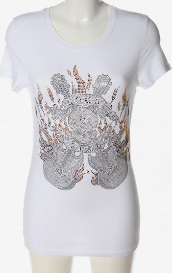 Amor & Psyche Longshirt in S in braun / silber / weiß, Produktansicht