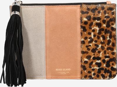 River Island Clutch in braun / grau / koralle / schwarz, Produktansicht