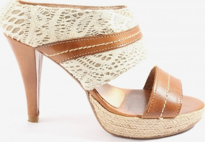 ALBA MODA Sandals & High-Heeled Sandals in 38 in Brown / White, Item view
