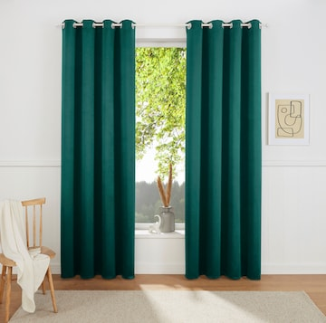 MY HOME Curtains & Drapes in Green
