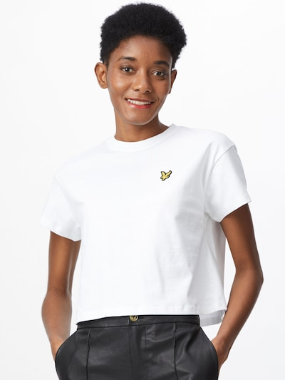 Lyle & Scott T-shirt en blanc: Vue de face