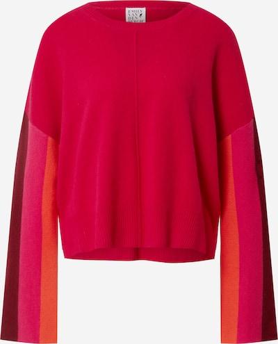 Emily Van Den Bergh Pull-over en orange foncé / rose néon / lie de vin / canneberge, Vue avec produit