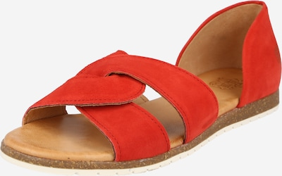 Sandale Apple of Eden pe roșu orange, Vizualizare produs