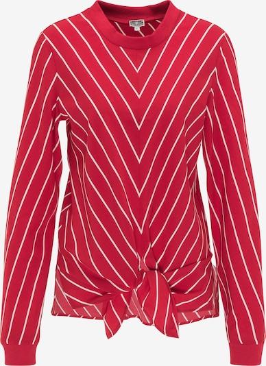 DreiMaster Maritim Bluse in feuerrot / weiß, Produktansicht