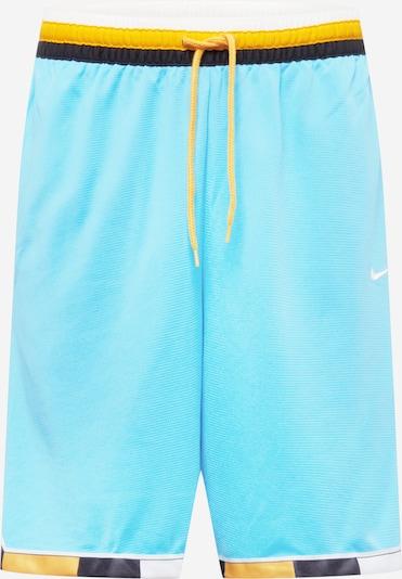 Pantaloni sport NIKE pe albastru aqua / galben / negru / alb, Vizualizare produs