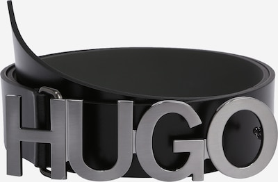 HUGO Ceinture en noir / argent, Vue avec produit
