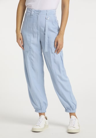usha BLUE LABEL Παντελόνι cargo σε μπλε