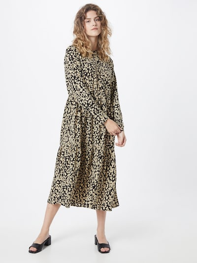 Rochie tip bluză 'Kinda' Kaffe pe bej / negru, Vizualizare model