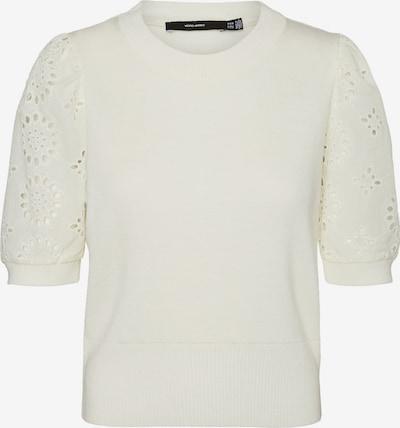 VERO MODA Pullover 'New Flowers' in weiß, Produktansicht