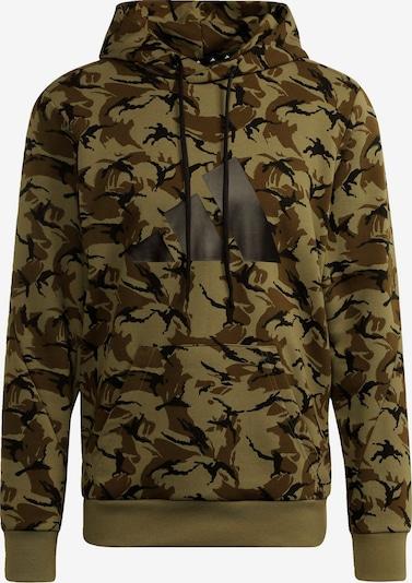 ADIDAS PERFORMANCE Sportsweatshirt in de kleur Bruin / Olijfgroen / Zwart, Productweergave