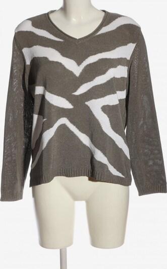 Rabe V-Ausschnitt-Pullover in XXL in silber / weiß, Produktansicht