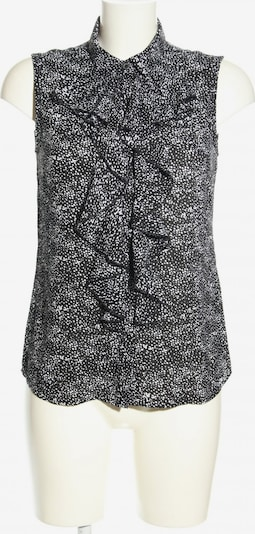s.Oliver BLACK LABEL Blusentop in XS in hellgrau / schwarz / weiß, Produktansicht