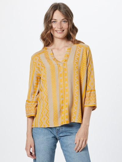 Ci comma casual identity Bluse in beige / dunkelgelb, Modelansicht