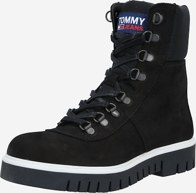 Tommy Jeans Snørestøvletter 'Pop Color' i sort, Produktvisning