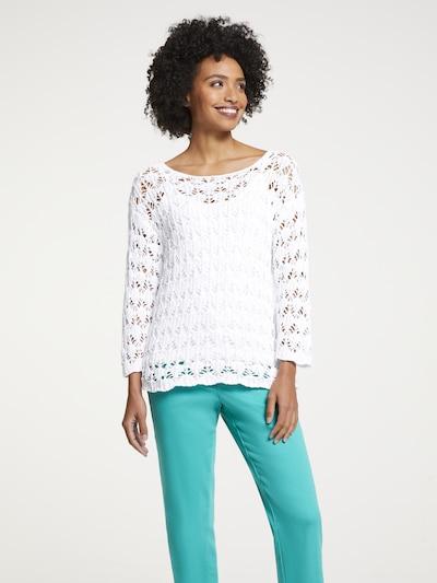 heine Pullover in weiß, Modelansicht
