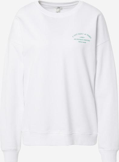River Island Sweatshirt in Green / White, Item view