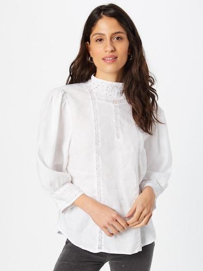 Bluză 'Ulrike' Line of Oslo pe alb, Vizualizare model