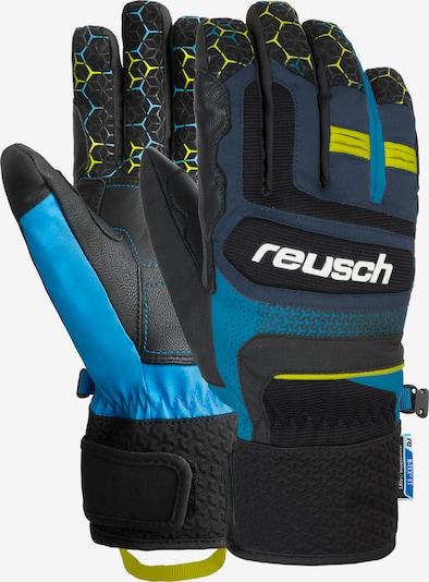 REUSCH Fingerhandschuhe 'Stuart R-TEX® XT' in blau / gelb / schwarz, Produktansicht