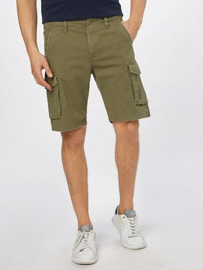 JACK & JONES Pantalon cargo 'Zack' en vert, Vue avec modèle