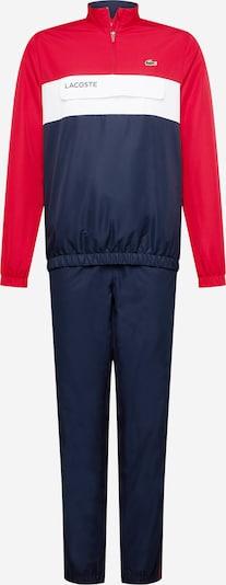 Lacoste Sport Sportanzug in dunkelblau / rot / weiß, Produktansicht