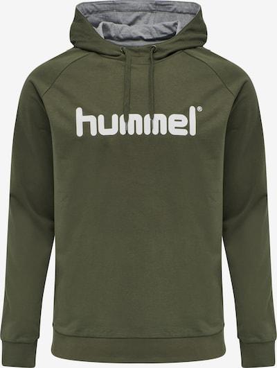 Hummel Hoodie in khaki / weiß, Produktansicht