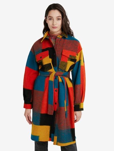 Desigual Mantel 'FINLANDIA' in dunkelblau / gelb / rot / schwarz, Modelansicht