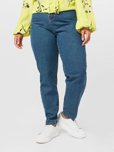 Missguided Plus Jean 'ELLA' en bleu, Vue avec modèle