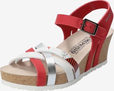 MEPHISTO Keilsandalette 'Lanny' in rot / weiß, Produktansicht