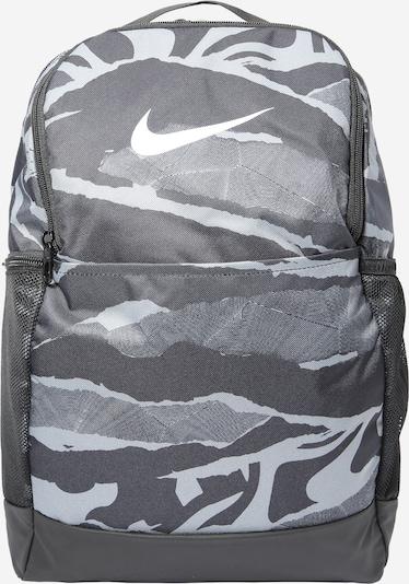NIKE Sportrugzak in de kleur Grijs / Zwart / Wit, Productweergave