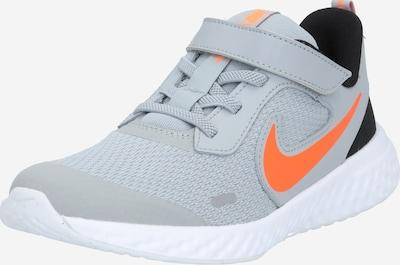 Sportiniai batai 'Revolution 5' iš NIKE , spalva - pilka / oranžinė / juoda, Prekių apžvalga