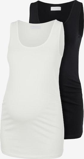 MAMALICIOUS Top 'Lea' in de kleur Zwart / Wit, Productweergave