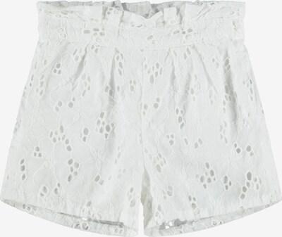 Pantaloni 'Fanne' NAME IT pe alb, Vizualizare produs