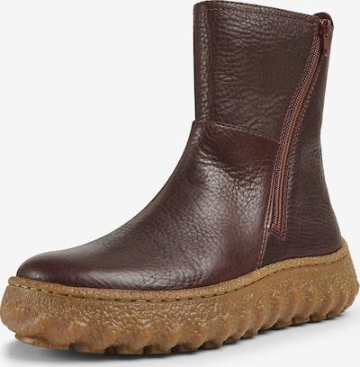 CAMPER Boots ' Ground ' en bordeaux, Vue avec produit