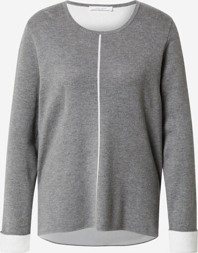 GERRY WEBER Pullover in graumeliert / weiß, Produktansicht