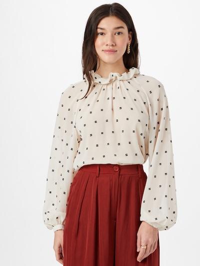 IVY & OAK Bluse in creme / schwarz, Modelansicht