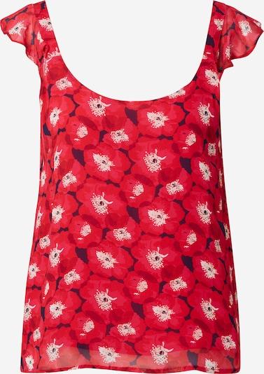 La petite étoile Top in rosa / rot / bordeaux / dunkelrot / weiß, Produktansicht