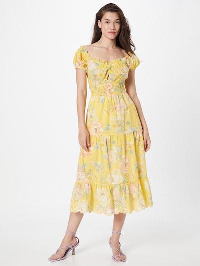 River Island Dress in Yellow / Dark green / Pastel orange / White, View model