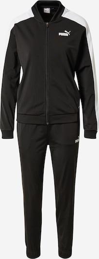 PUMA Sportanzug in schwarz / weiß, Produktansicht