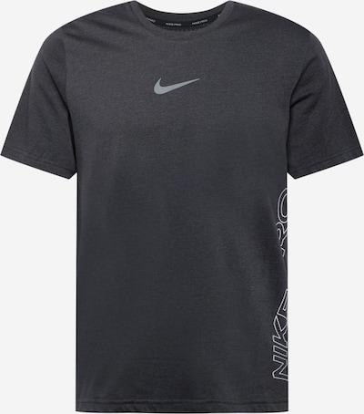 NIKE Функционална тениска 'BURNOUT' в сиво / черен меланж, Преглед на продукта