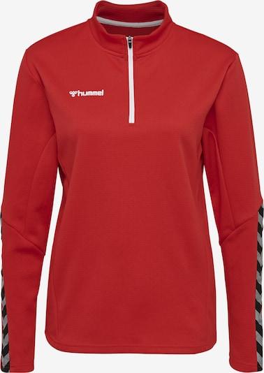 Hummel Sweatshirt in graphit / hellrot / schwarz / weiß, Produktansicht