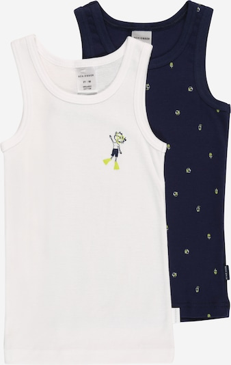 SCHIESSER Camiseta térmica en azul oscuro / amarillo neón / blanco, Vista del producto