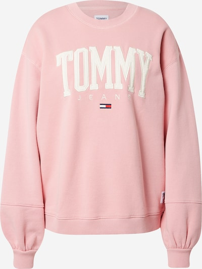 Tommy Jeans Sweatshirt i mörkblå / ljusrosa / röd / vit, Produktvy