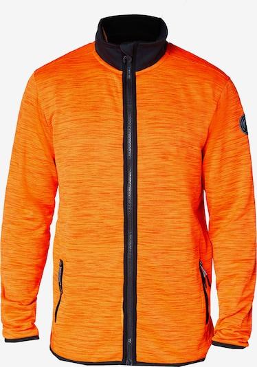 CHIEMSEE Sportsweatjacke 'SABALAN' in orangemeliert / schwarz, Produktansicht